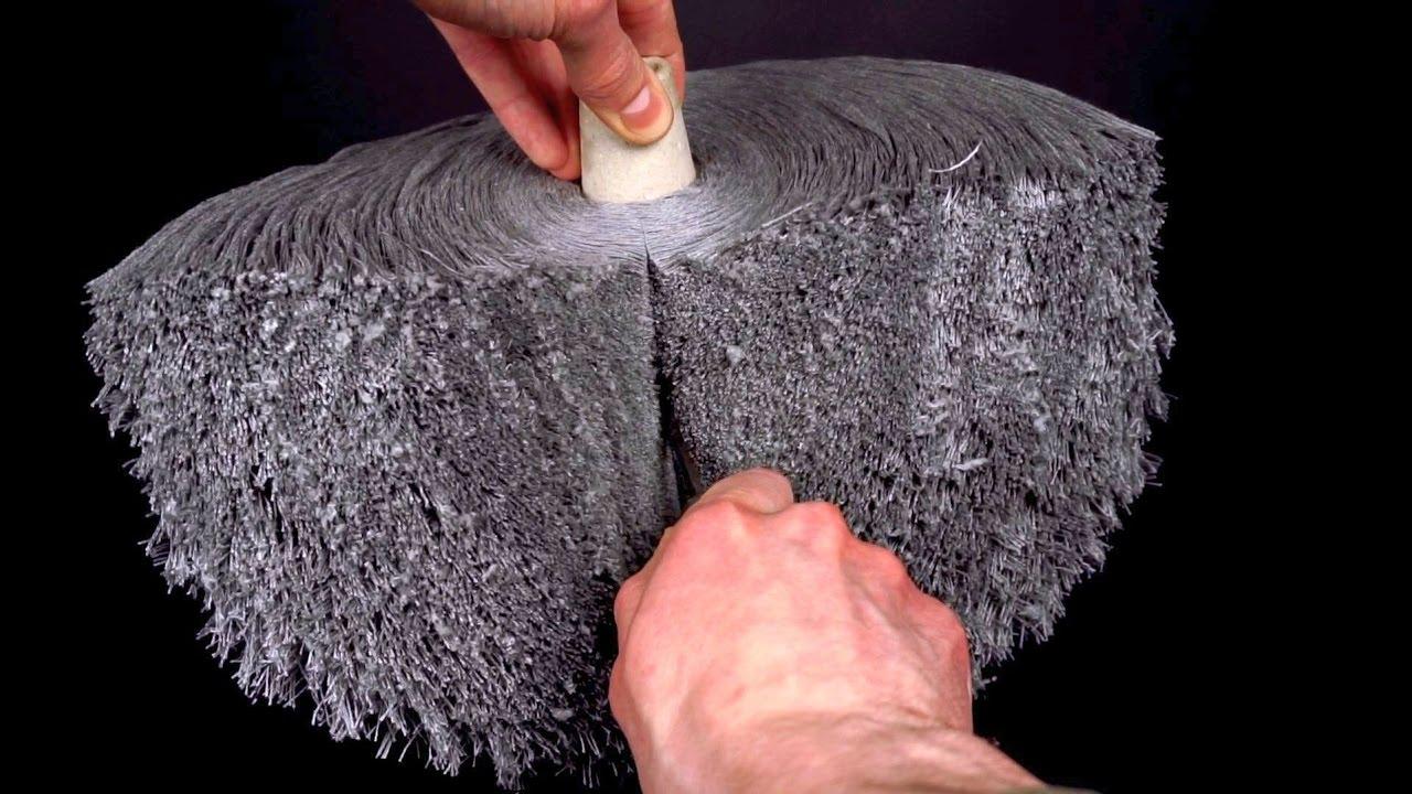 asmr spool of yarn being cut in half satisfying youtube