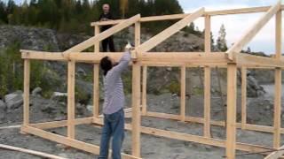 Теплый дом на карьере Хургада(Строим теплый дом для зимней нырялки. Дайвинг-клуб