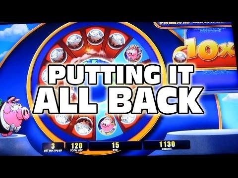 PUTTING THE BIG WIN ALL BACK - Casino Slot Machine Bonus Wins