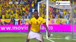 Colombia vs Uruguay 2-2 - Goles - 11/Octubre/2016 - Fecha 10 - Eliminatorias Rusia 2018