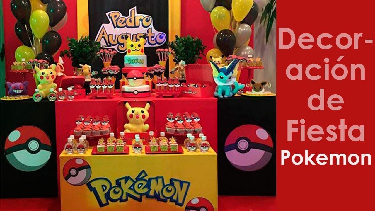 Pokemon Pulsera de Silicona para la celebraci/ón de Fiestas para 10 Invitados Decoracion Cumplea/ños Pokemon Decoraci/ón de la Fiesta de cumplea/ños Infantil de Pokemon 118 Piezas