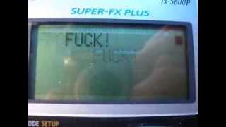 Casio FX-5800P calculator fun