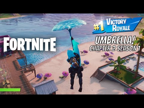 Fortnite Chapter 2 Season 1 Victory Umbrella Reward Downpour Umbrella
