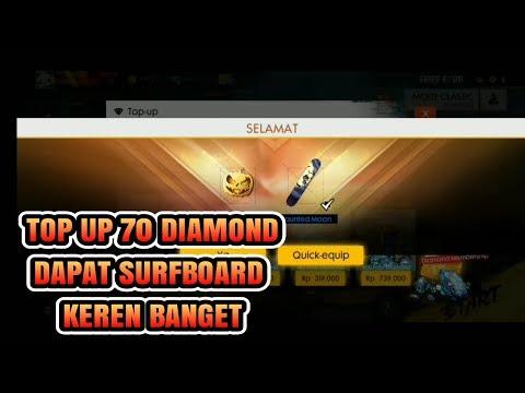 TOP UP 70 DIAMOND DAPAT SURFBOARD HAUNTED MOON_GARENA FREE FIRE INDONESIA