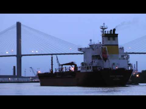 Songa Sapphire tanker ship arriving in Savannah GA 7/29/2012