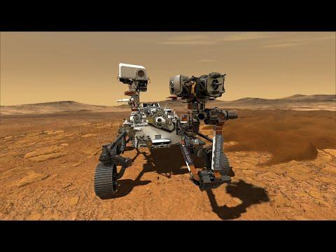 Первое видео с Марса от марсохода Персеверанс | Perseverance