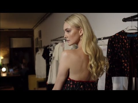 Caroline Trentini getting ready for the CFDA Vogue Fashion Fund 2018
