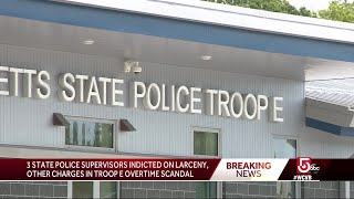 3 state police supervisors indicted on charge of larceny