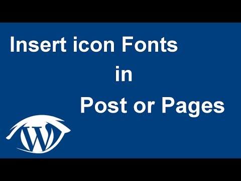 How to INSERT Icons 👍 into post or pages in WordPress (2017 tutorial)