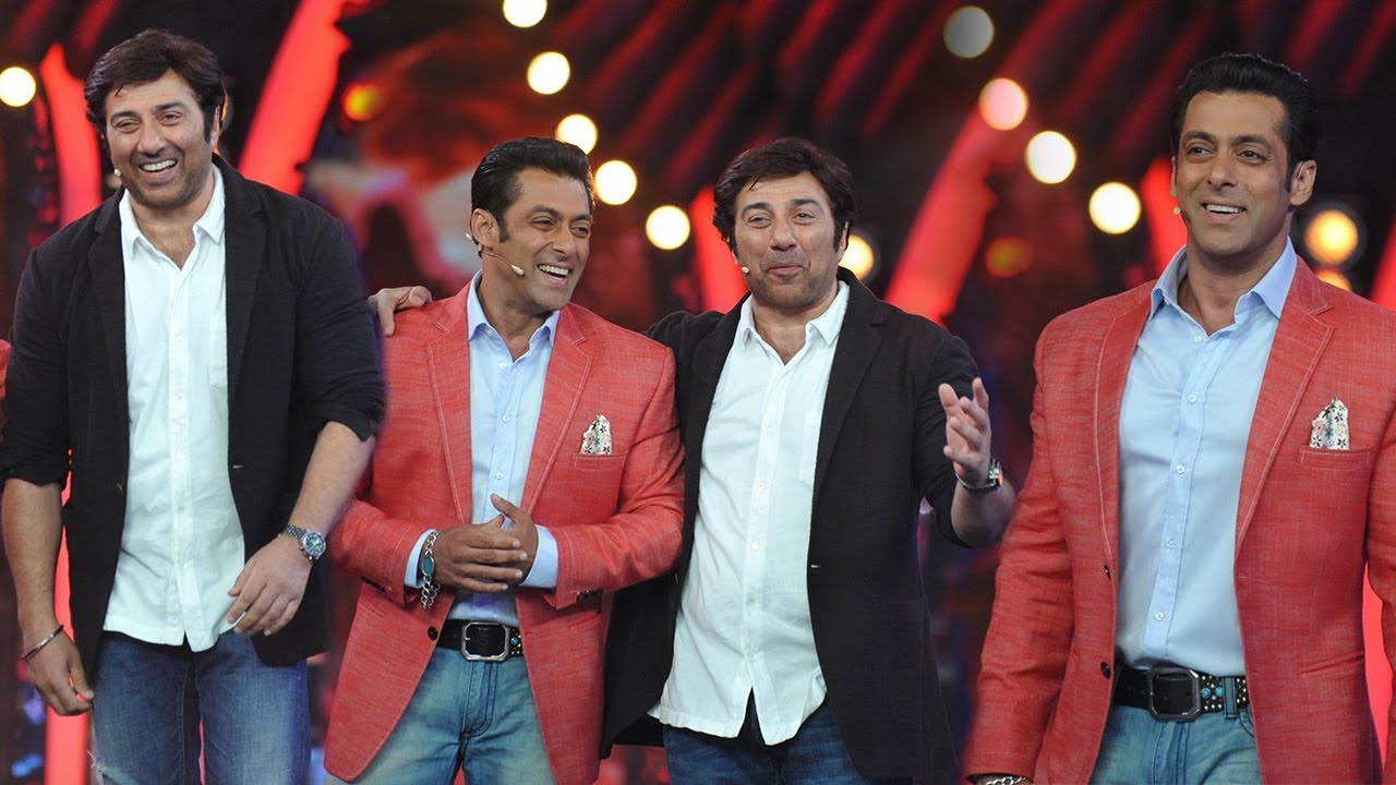 Sunny Deol With Salman Khan On The Sets Of Bigg Boss 7 ...