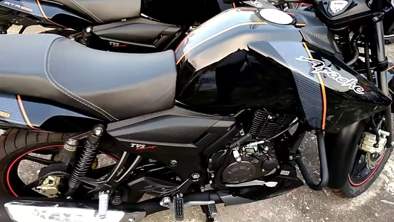 Tvs Apache Rtr 160 Black Color Bsiv Double Disc On Road Price