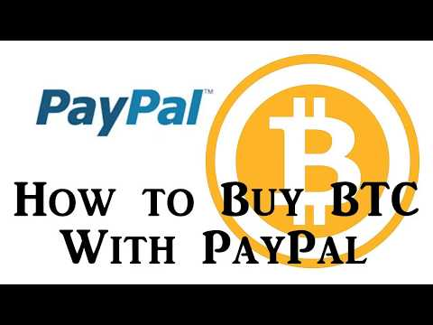 How To Buy Bitcoin With PayPal Or Credit Card