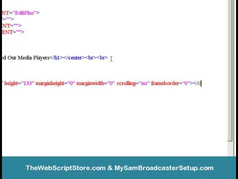 How To Embed A Media Player Into Webpage