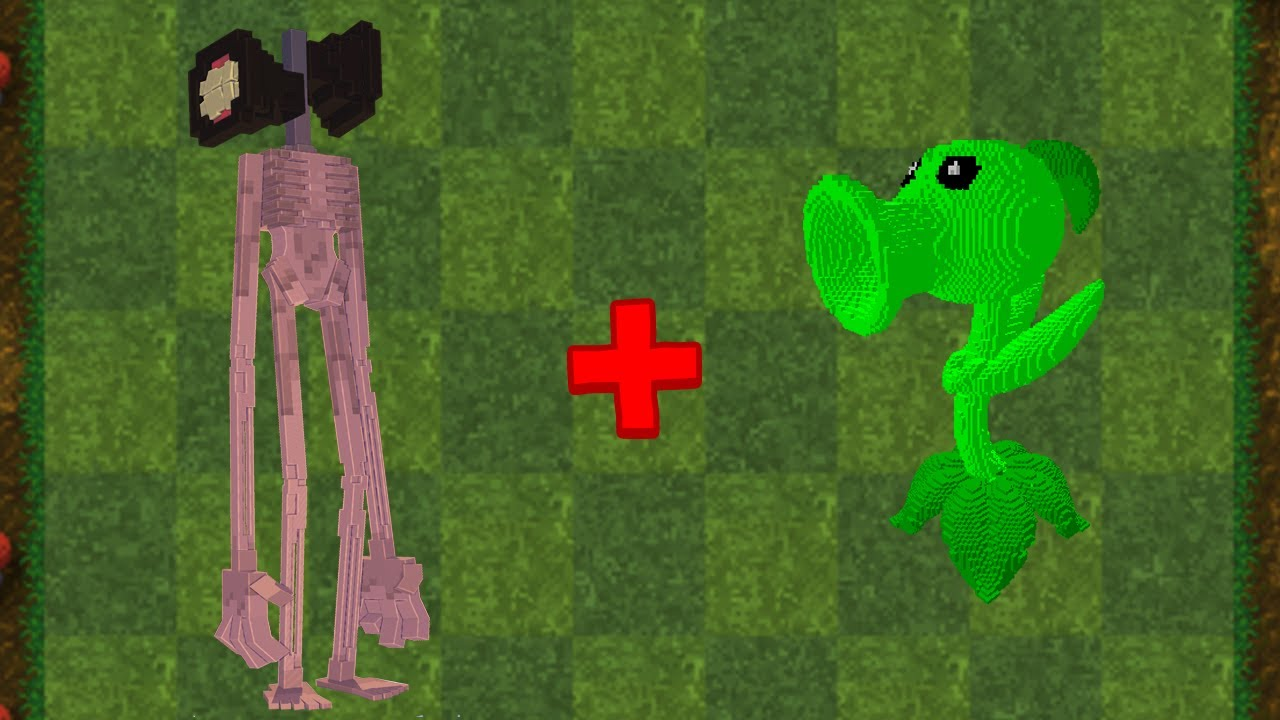 Siren Head + Peashooter Fusion - MINECRAFT Plants vs Zombies Animation