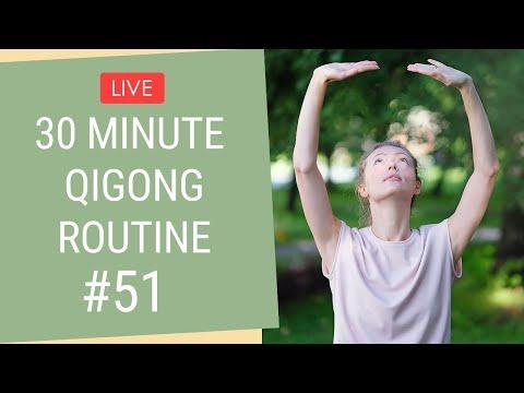 🔴 LIVE 30 Minute Qigong Routine #51 - Qigong For Beginners
