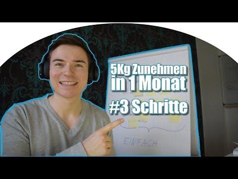 5Kg in 1 Monat ZUNEHMEN | #3 Schritte