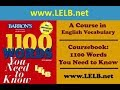 1100 Words You Need to Know, Week 20, Day 4 - LELB Society