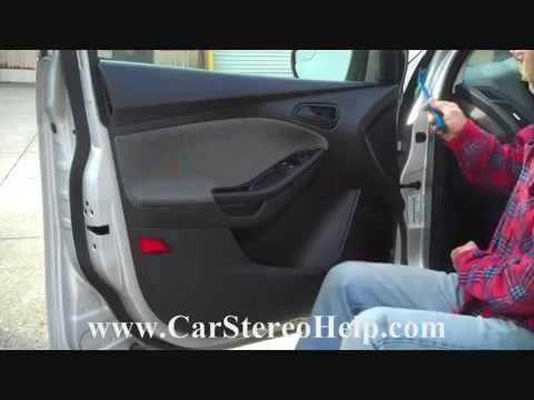 How to Ford Focus Front Door Speaker speakers Removal 2012  2015 replace  YouTube