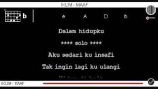 Iklim   Maaf dgn Kord + Lirik