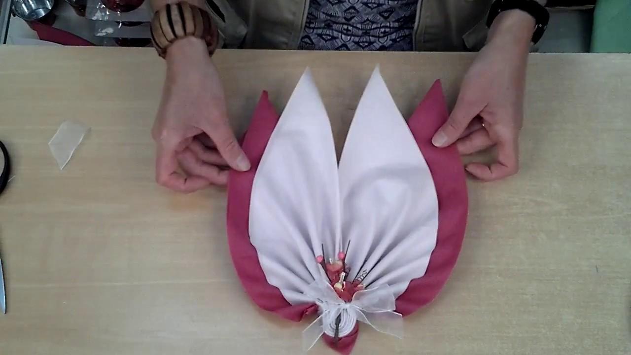 Populaire La Double Feuille - Etalmag - Pliage de serviettes - YouTube AS67