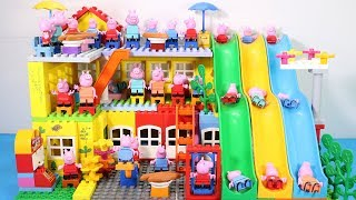 Peppa Pig Family Lego House Creations With Water Slide #9