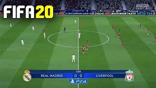 FIFA 20 GAMEPLAY [ Real Madrid vs Liverpool ] - PS4