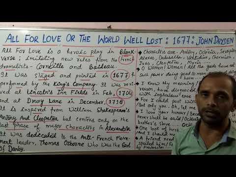 LT Grade / UGC - All For Love by John Dryden: Shivam Dubey at English Kingdom, Katra (9369542072)