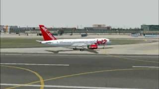 FS2004 757-200 Landing In Frankfurt