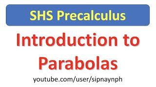 SHSPrecalc1.12 Introduction to Parabolas