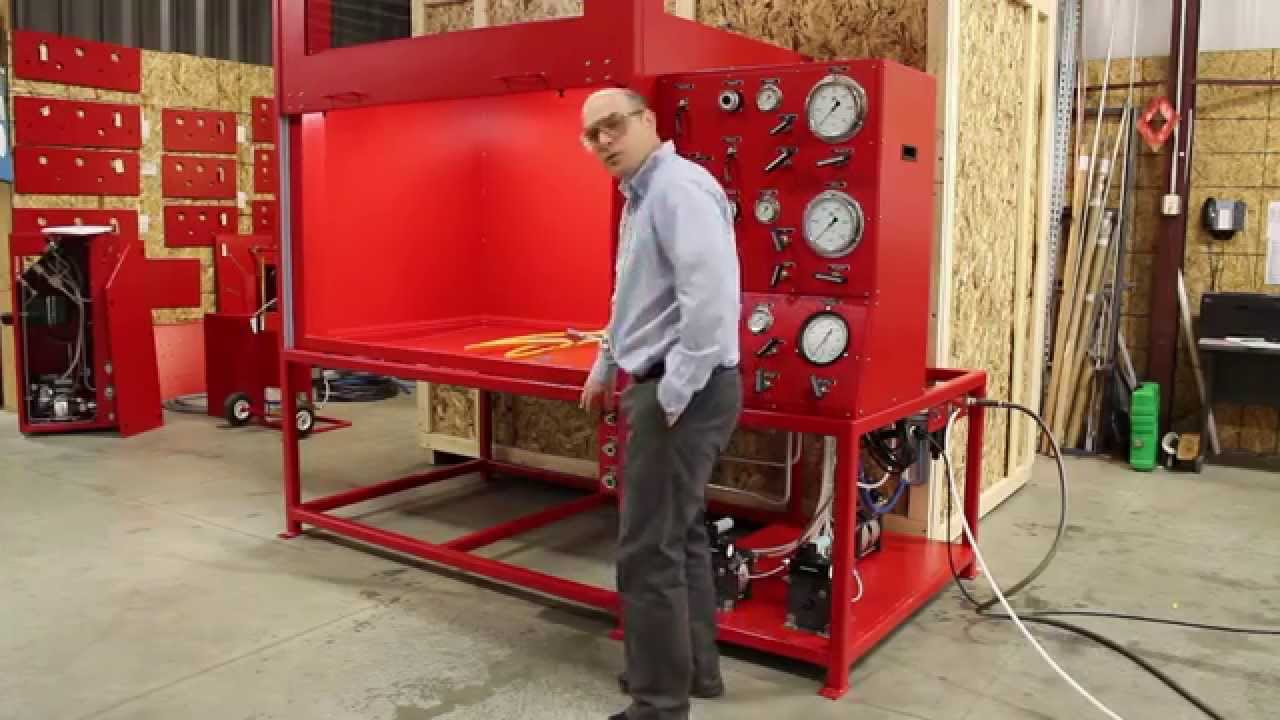 Test Bench For High Pressure Hose Youtube