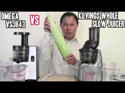 Kuvings Masticating Slow Juicer Vs Omega : Omega vSJ843 vs Kuvings Whole Slow Juicer Comparison Review - YouTube