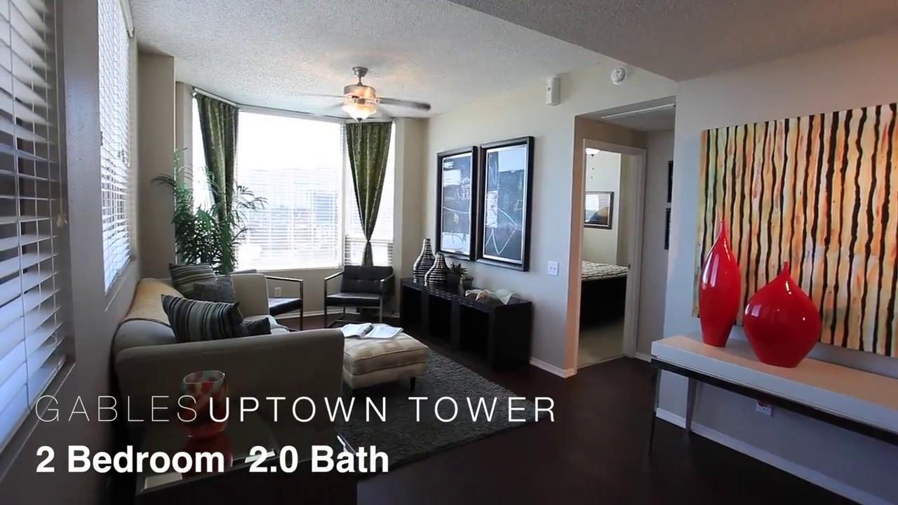 Gables Uptown Tower 2 Bedroom Walkthrough - YouTube