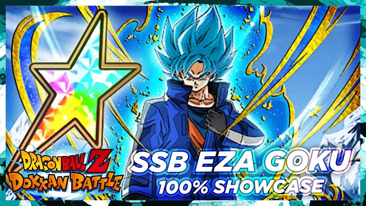 The Best Ssb Goku 100 Eza Ssb Goku Showcase Dbz Dokkan Battle Youtube