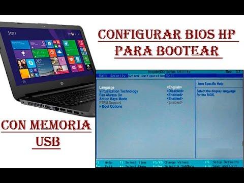 Configurar BIOS HP para bootear con USB