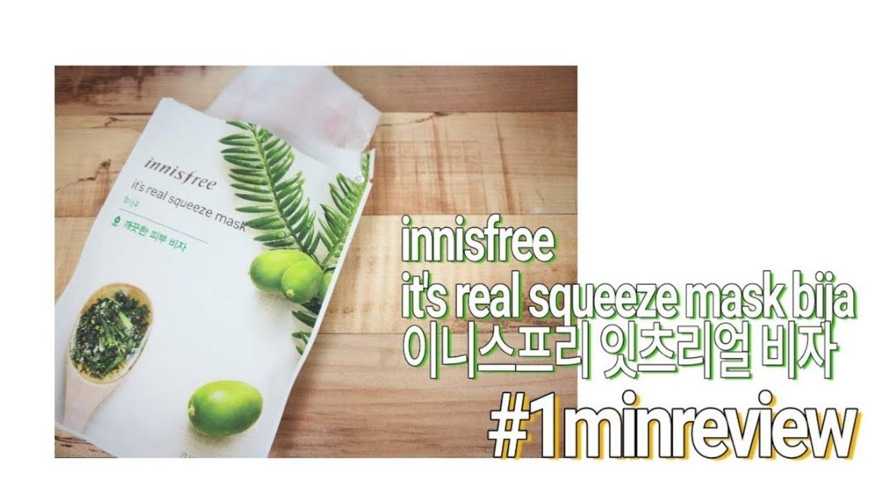 Innisfree Its Real Squeeze Mask Bija Daftar Harga Terkini Dan 20ml 16 Korean Sheet Review