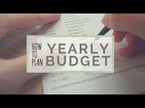My Budget Year - How I plan my Yearly Budget, Expenses & Saving