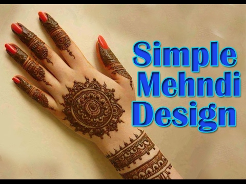 Simple Easy Mehndi Design For You At Home| Beginners Help | Mehndi Design  Training