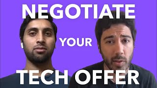How to Negotiate Your Tech Offer Simulation ft. Levels.fyi