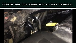 Dodge ram air conditioning line removal
