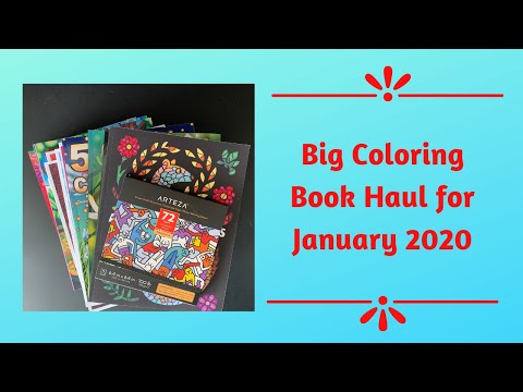 Big Coloring Book Haul For January 2020