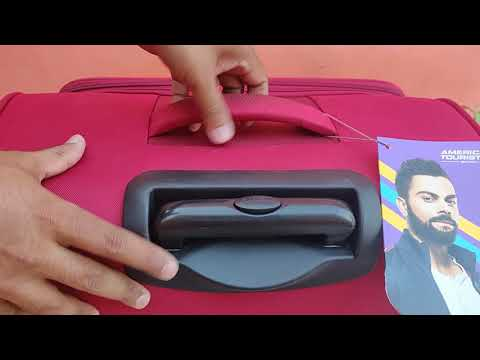 American Tourister Jamaica Polyester 80 cms Wine Red Softsided Suitcase Unboxing