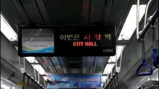 [FHD]釜山都市鉄道 1号線 市庁駅 案内放送