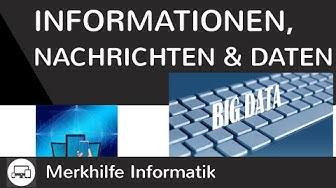 Informationen, Nachrichten & Daten einfach erklärt - Eigenschaften von Informationen