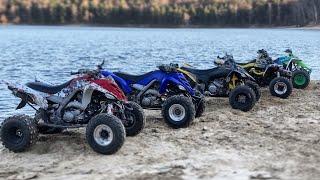 Лесная покатушка #2. ATV Yamaha YFZ450R / YFM700 / Banshee 350/ Honda TRX700/ Blaster /Suzuki DRZ400