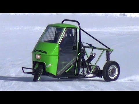 APE Car Drifting on Snow with Motorbike Engines Swap! - Livigno Ice Track!