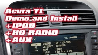 Acura TL IPOD & HD Radio, with iSimple PXAMG HDRT by Autotoys.com
