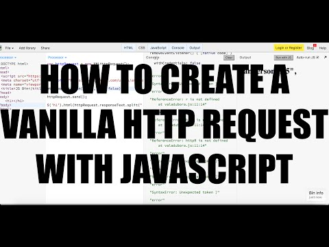 How To Create A Vanilla HTTP Request With JavaScript