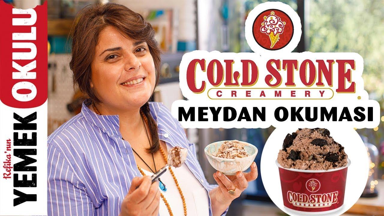 Cold Stone Tava Dondurma (Challenge) Meydan Okuması | Rulo Tayland Dondurmasını Evde Yapmak