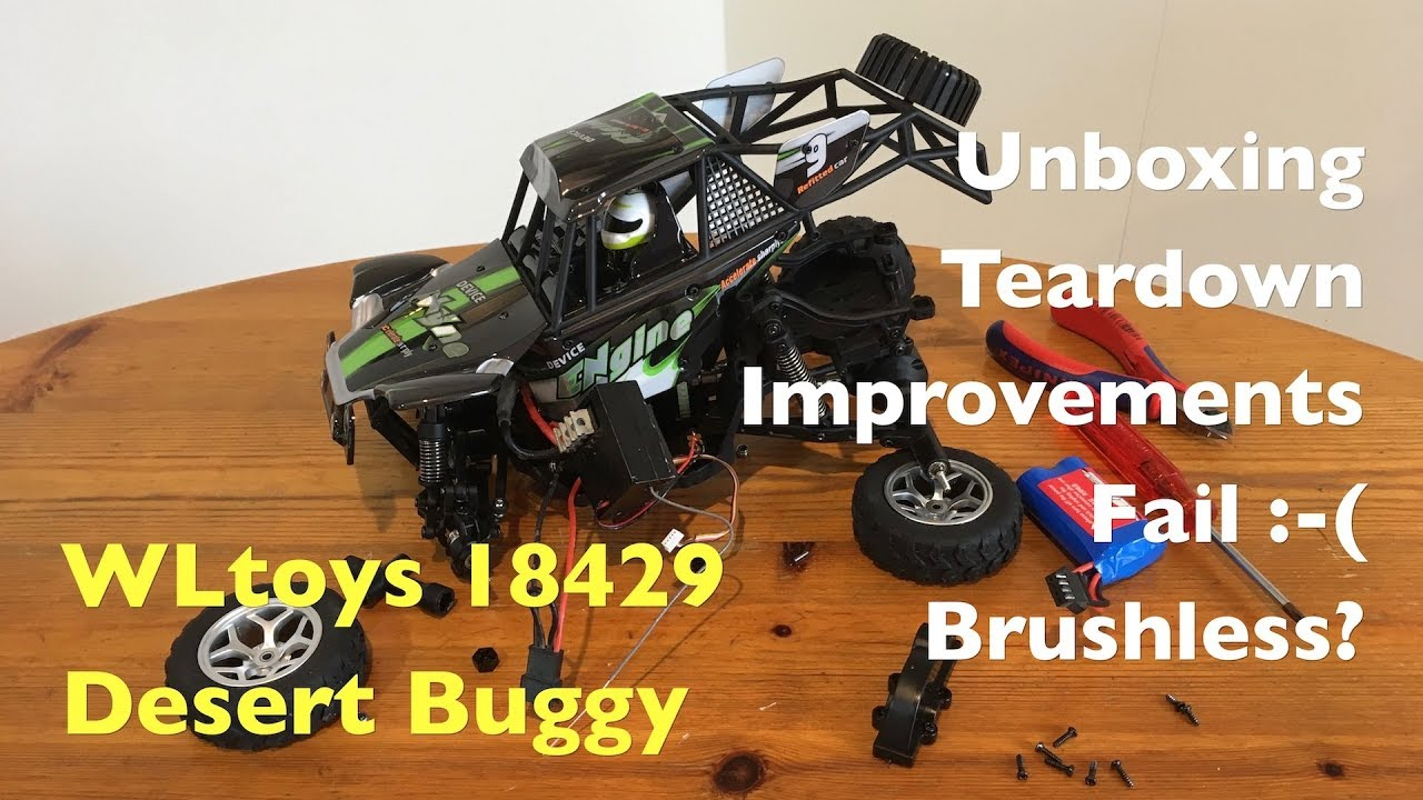 "WLtoys 18429 ""Pocket 12428"" Desert Buggy: Unboxing, Teardown, Waterproofing  and FAIL!"