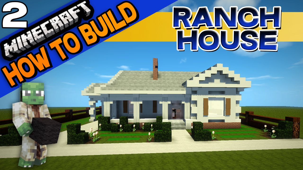 minecraft ranch house how to build e02 youtube